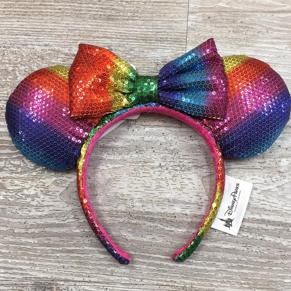 Disney Accessories - Disney Parks Rainbow Sequence Minnie Ears